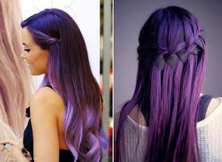 jolie coloration cheveux violet. Black Bedroom Furniture Sets. Home Design Ideas
