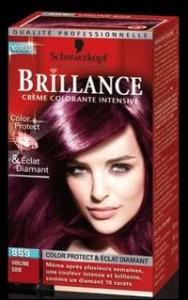 Exemple coloration cheveux violine
