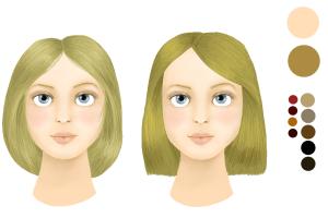 Exemple coloration cheveux yeux noisette