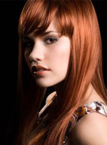 Mode pour femme : couleur cheveux cuivré