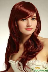 Belle couleur cheveux cuivré pour femme