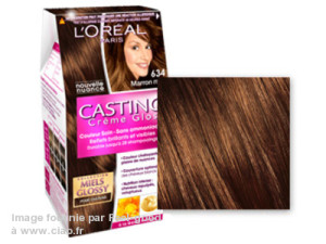 Exemple couleur cheveux gloss loreal