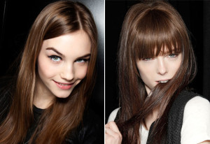Modèle couleur cheveux moka
