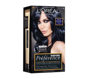 Jolie couleur cheveux noir bleuté