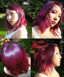 Quelle couleur cheveux prune