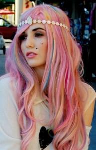 Tendance : couleur cheveux rose