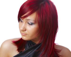 Idée couleur cheveux rouge rubis