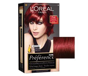 couleur cheveux rouge rubis