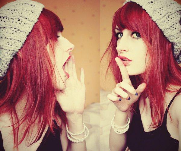 Belle Couleur Cheveux Violet Rouge Pour Femme