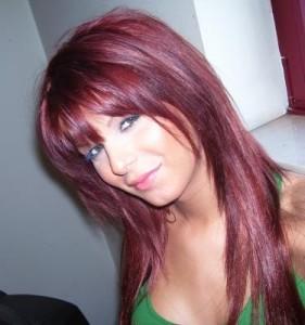 Jolie couleur cheveux violine