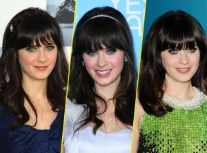 Exemple couleur cheveux zooey deschanel