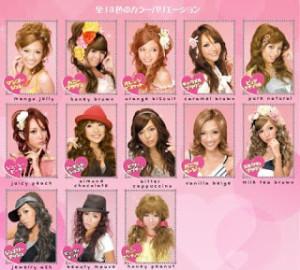 Modèle coloration cheveux asiatiques