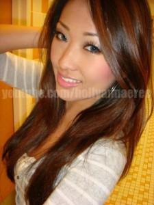 Jolie coloration cheveux asiatiques