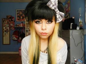 Exemple coloration cheveux deux tons