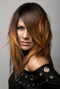 Idée coloration cheveux deux tons