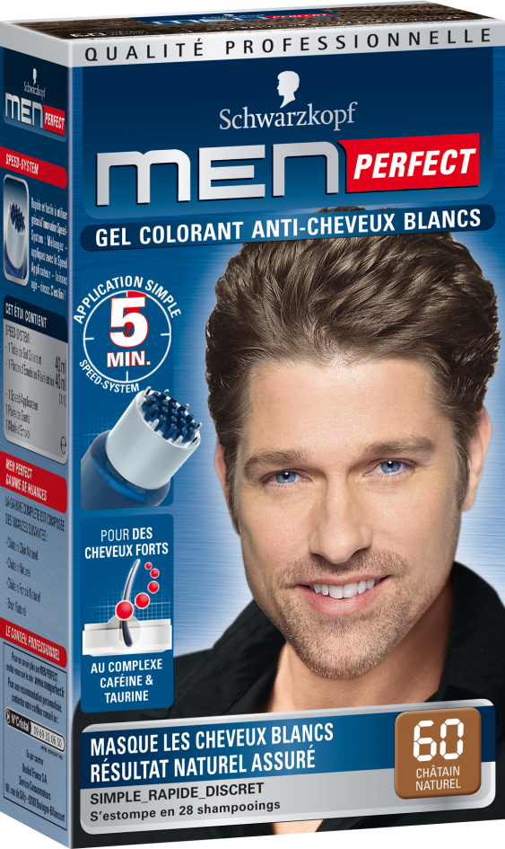 coloration cheveux blancs homme labels 2016 - Shampoing Colorant Homme