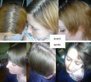 Jolie coloration cheveux gris acier