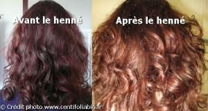 Belle coloration cheveux henné pour femme