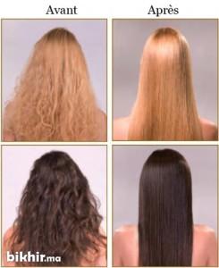 Belle coloration cheveux keratine pour femme