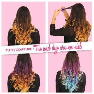 Exemple coloration cheveux temporaire bleu
