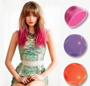 Idée coloration cheveux temporaire bleu