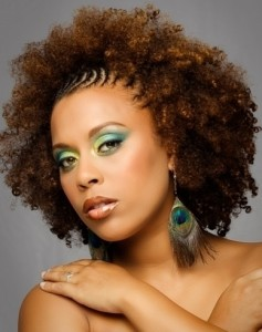 Exemple couleur cheveux afro