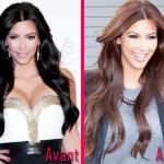 couleur cheveux kim kardashian