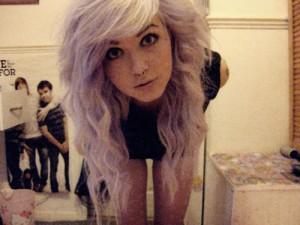 Idée couleur cheveux lilas