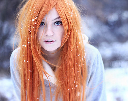 couleur cheveux orange