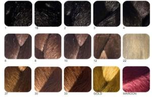 Mode pour femme : couleur cheveux palette