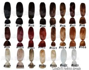 Inspiration couleur cheveux palette
