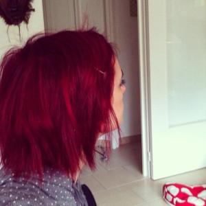 Tendance : couleur cheveux rouge cerise