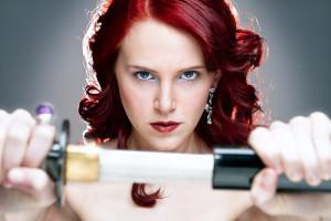 Jolie couleur cheveux rouge cerise