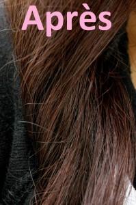 Belle couleur cheveux uniforme pour femme