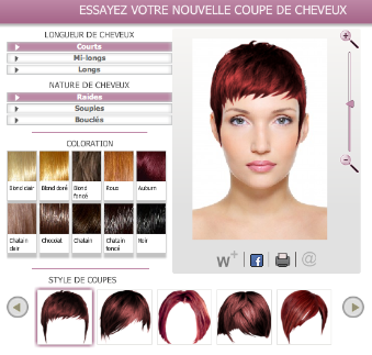 coloration cheveux virtuelle - Simulateur Coloration