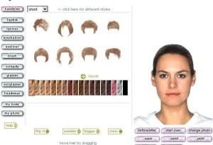 Modèle couleur cheveux virtuelle gratuit
