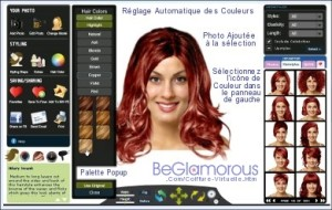 Belle couleur cheveux virtuelle gratuit pour femme
