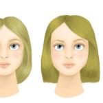 couleur cheveux yeux marron vert